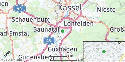 Google Map of Fuldabrück