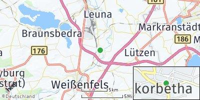 Google Map of Großkorbetha