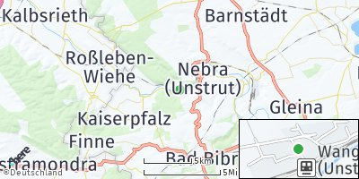 Google Map of Wangen bei Naumburg