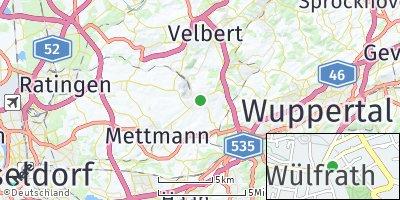 Google Map of Wülfrath