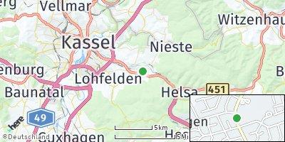 Google Map of Kaufungen