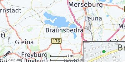 Google Map of Braunsbedra
