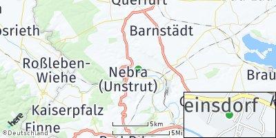 Google Map of Reinsdorf bei Naumburg