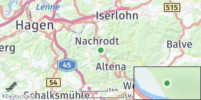 Google Map of Nachrodt-Wiblingwerde