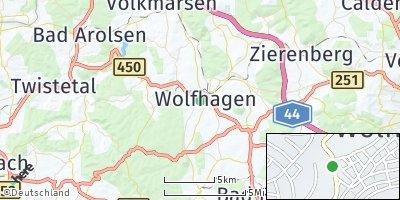 Google Map of Wolfhagen