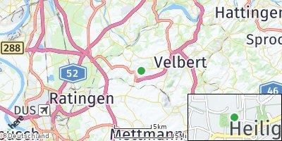 Google Map of Heiligenhaus bei Velbert