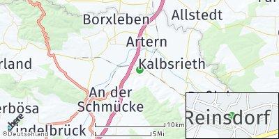 Google Map of Reinsdorf bei Artern