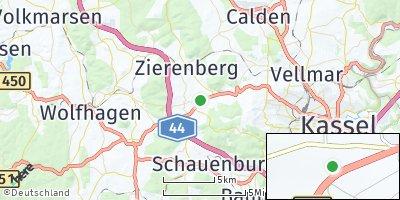 Google Map of Habichtswald