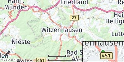 Google Map of Witzenhausen