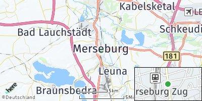 Google Map of Merseburg
