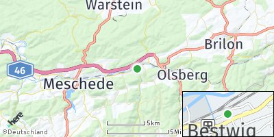 Google Map of Bestwig
