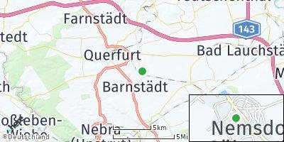 Google Map of Nemsdorf-Göhrendorf