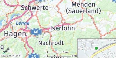 Google Map of Iserlohn