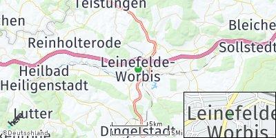 Google Map of Leinefelde-Worbis