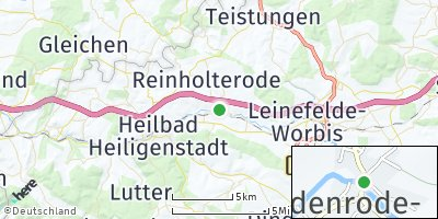 Google Map of Bodenrode-Westhausen