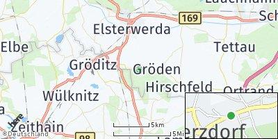 Google Map of Merzdorf bei Elsterwerda