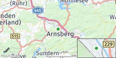 Google Map of Arnsberg