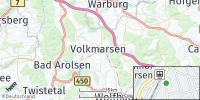Google Map of Volkmarsen
