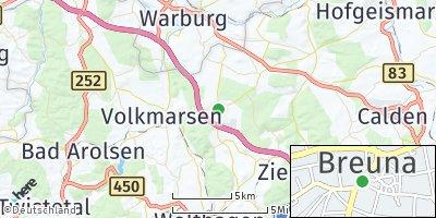 Google Map of Breuna