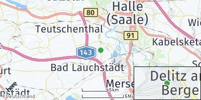 Google Map of Delitz am Berge