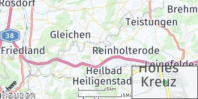 Google Map of Hohes Kreuz