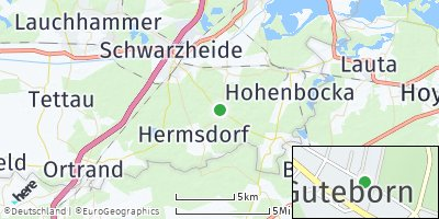 Google Map of Guteborn