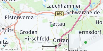 Google Map of Schraden bei Elsterwerda