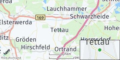 Google Map of Tettau bei Ruhland