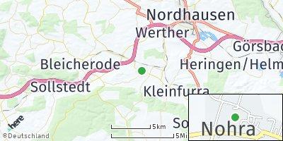 Google Map of Nohra bei Nordhausen