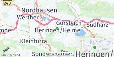 Google Map of Heringen / Helme
