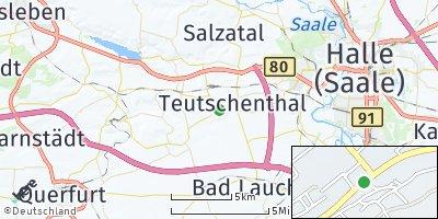 Google Map of Teutschenthal
