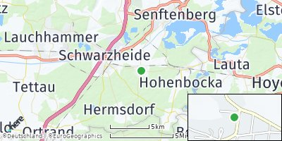 Google Map of Schwarzbach bei Ruhland