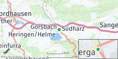 Google Map of Berga bei Roßla