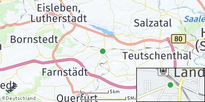 Google Map of Röblingen am See