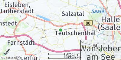 Google Map of Wansleben am See