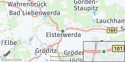 Google Map of Elsterwerda
