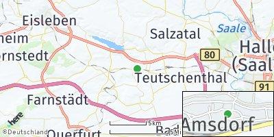 Google Map of Amsdorf