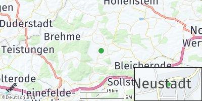 Google Map of Neustadt bei Leinefelde