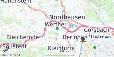 Google Map of Werther bei Nordhausen