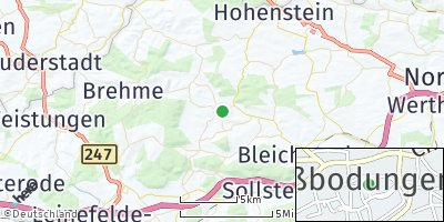 Google Map of Großbodungen