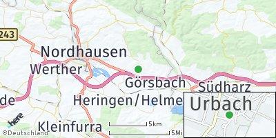 Google Map of Urbach bei Nordhausen