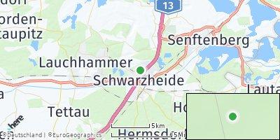 Google Map of Schwarzheide