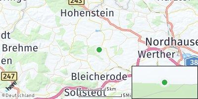 Google Map of Hohenstein bei Nordhausen