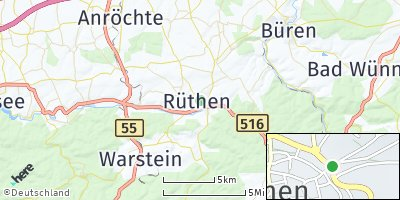 Google Map of Rüthen