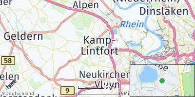 Google Map of Kamp-Lintfort