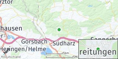 Google Map of Breitungen bei Roßla