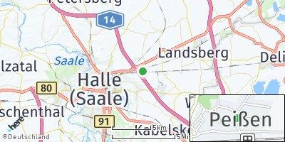 Google Map of Peißen bei Halle