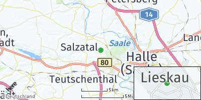 Google Map of Lieskau