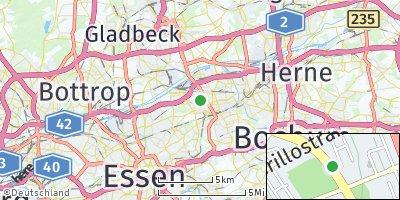 Google Map of Gelsenkirchen