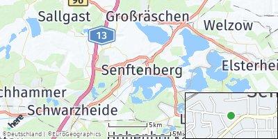 Google Map of Senftenberg